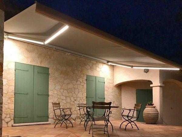 Eclairage Leds pour store de terrasse Clausio