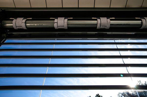 Volet roulant à lames transparentes CLAUSIO