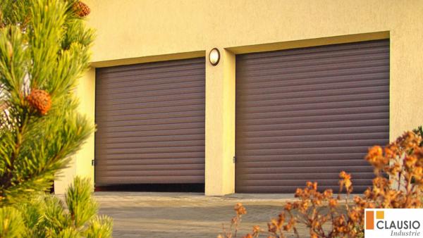 porte de garage chêne fonce clausio