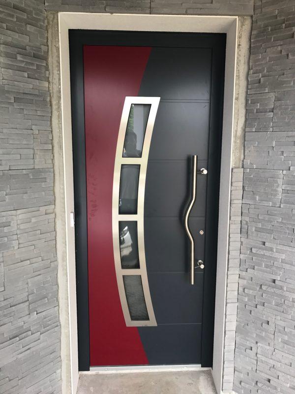 Porte d'entrée90 mm bicolore ALUHAUS