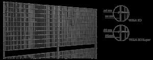 Cloture rigide Vega 2D clausio