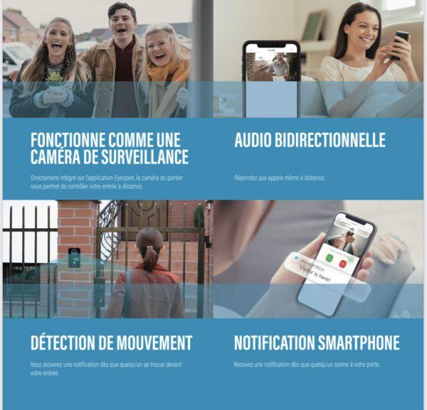 Visiophone Biibell de Powertech, la solution de qualité autonome et économique pour contrôler et protégervotre entrée